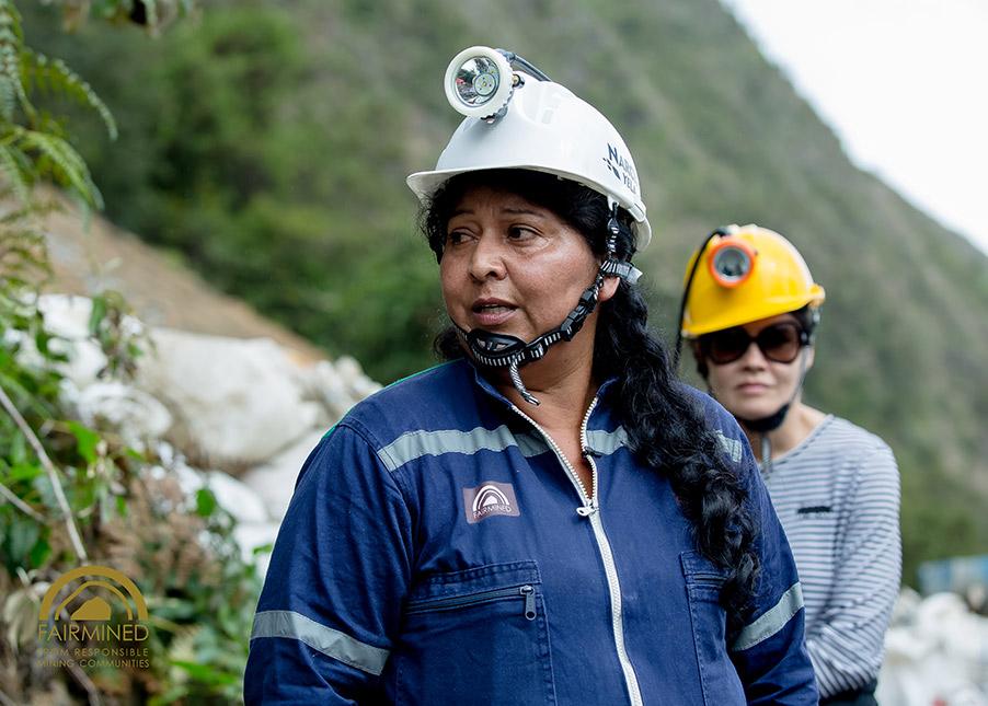 Fairmined vrouwelijke mijnwerker
