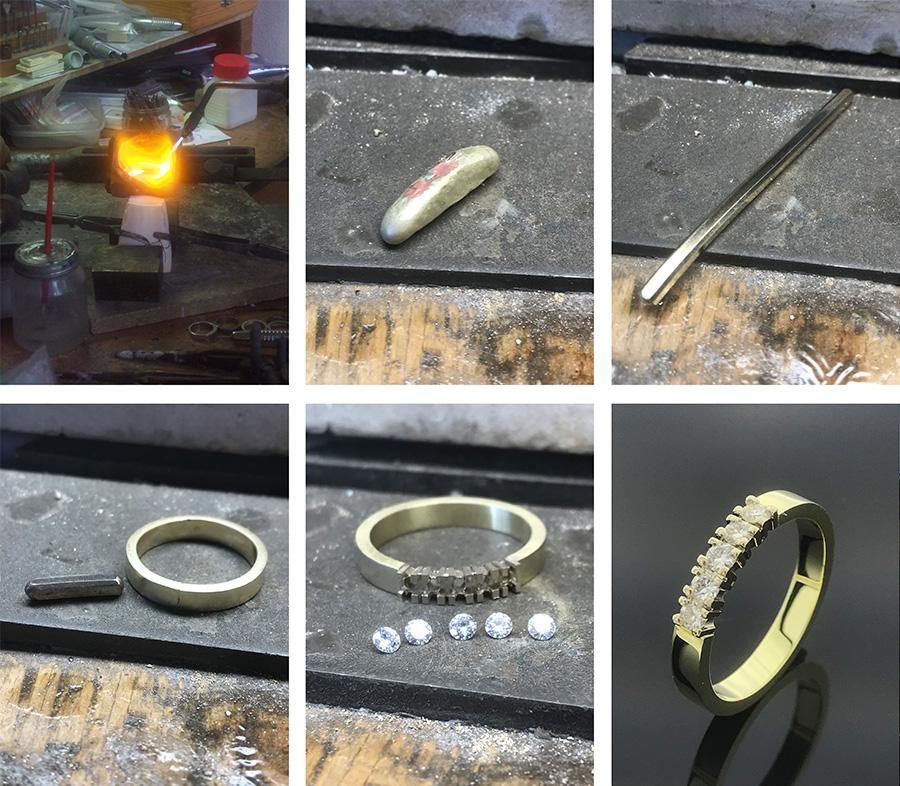 Smeedproces van oud goud tot nieuw sieraad door Edelstijl Utrecht